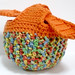Crocheted Apple Cozy or Fruit Jacket - Variegated Orangey by melbangel