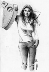 hard work (rafanav) Tags: woman girl pencil mujer drawing lapiz navarro rafa dibujo