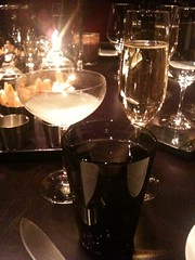 Complimentary Champagne & my cocktail, The Corpse Reviver (No. 2)