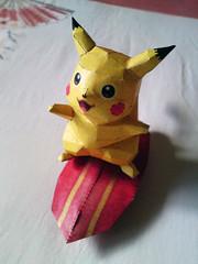 Pikachu Doll (kadou) Tags: handmade pikachu pokemon papercraft pepakura