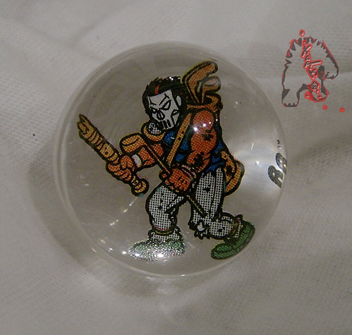 RAD ROLLERS,Collectable Action Marbles :: Teenage Mutant Ninja Turtles COLLECTION Series-1 // Casey Jones   ((1991 ))