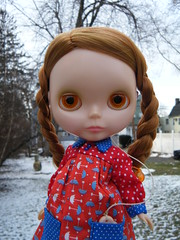 This Used To Be My Playground (Brentments) Tags: winter fab house beautiful wearing rain by vintage outdoors doll julie eyelashes no january redhead delicious creation kenner blythe fabulous 1972 2009 smock gwyneth the gwennie in pinku sidepart of smockin smockments