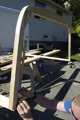 Truck canopy frame