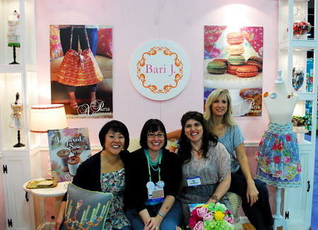 Hanging out in Bari's booth (where all the cool people were!)