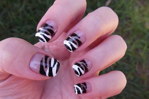 Nail art Zebra!