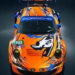 2011 Flying Lizard / Troy Lee Designs Le Mans Art Car <br>Photo © Sean Klingelhoefer <br> Images courtesy Flying Lizard Motorsport