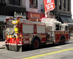 """E007e FDNY """"Magnificent Seven"""" Engine 7, City Hall Area, New York City (jag9889) Tags: city nyc ny newyork truck fire cityhall manhattan district 911 engine 7 company financial fdny firefighters magnificent civiccenter seagrave bravest 10thanniversary magnificentseven engine7 battalion1 e007 y2011 jag9889"""