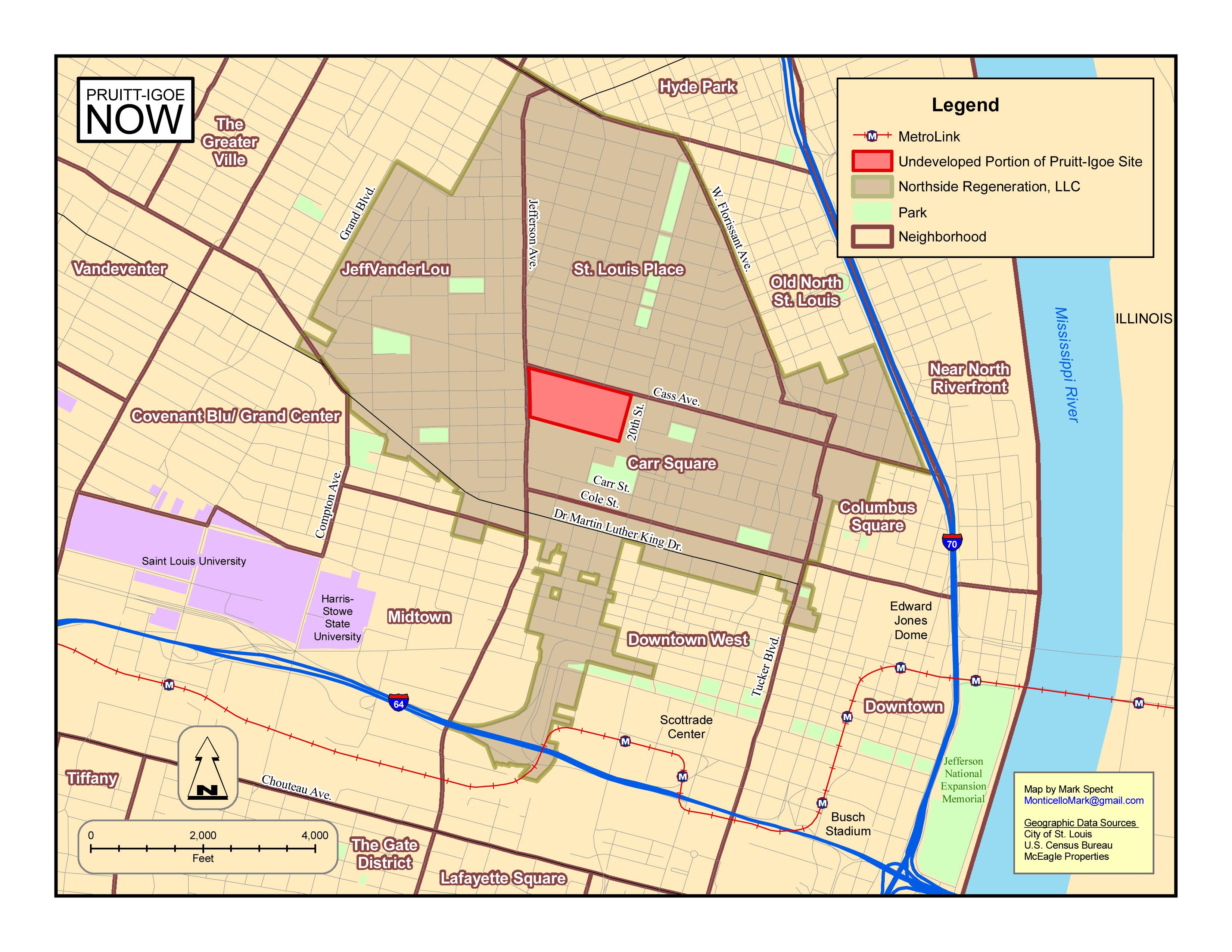 Pruitt Campus Map.Pruitt Igoe Now