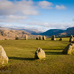 Stone circle near Keswick, the Lake District, England.
