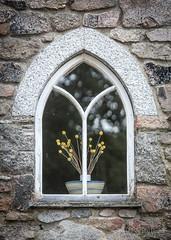 Window (JKmedia) Tags: boultonphotography widecombe dartmoor devon manmade stilllife pane glass window arch flower stone house home art 15challengeswinner
