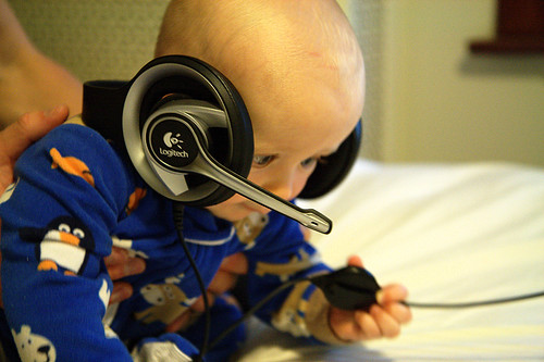 Junior air-traffic controller by GrahamKing, on Flickr