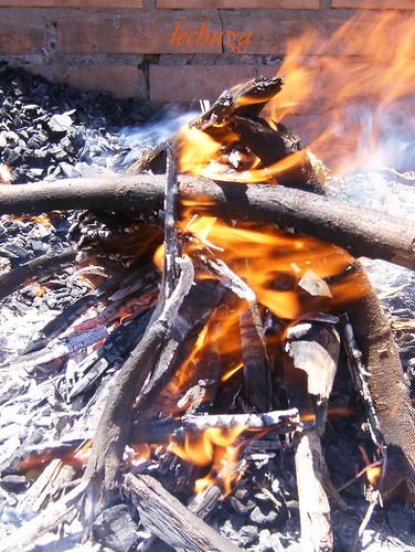 Sardinas con brona-fuego