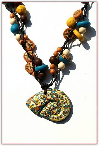 Mokume gane - necklace