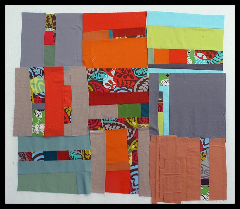 My Day 2 Improvisational Quilt