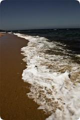 Orilla... (InVa10) Tags: sea españa brown white blanco beach portugal water canon eos mar spain sand agua waves playa arena badajoz shore foam marron 450 olas meco orilla espuma extremadura inva 450d