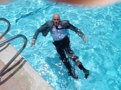JPO2 relaxing in the pool (Mr. Muddy Suitman) Tags: orangecountymudruntrip