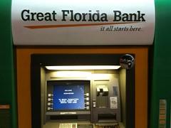 Great Florida Bank (dcmiami) Tags: florida miami great bank chase atm aventura jpm ciscokid checkcard gfb