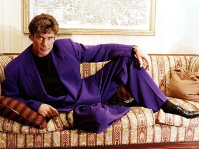 david hasselhoff purple suit