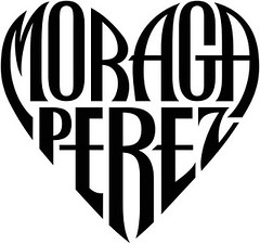 """Moraga"" & ""Perez"" Heart Design"