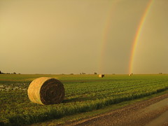 Double Rainbow and Bales