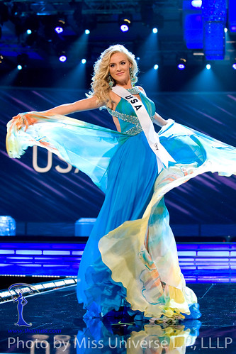 Kristen Dalton competes in the Evening Gown Segment