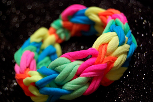 neon finger loop bracelet