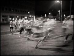 Wildebeest (bildministeriet) Tags: digital stream nightshot gothenburg running motionblur runners athletes sonycybershot moves compact midnightrun midnattsloppet