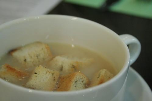 Mushroom soup at Paul Calvin's Deli