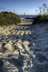 _MG_3596_4_5_ (Dustin K. Ryan) Tags: ocean light sky lighthouse house beach grass sunrise island sand ryan south charleston carolina dustin morris hdr folly lowcountry