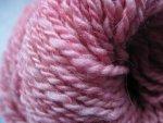Rose Sparkle - handspun wool yarn - 89 yards