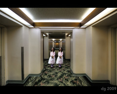 The Shining (The Devil in the Detail) Tags: detail girl architecture photoshop canon hotel scary twins asia raw ghost cloning wide corridor pic spooky 1740mm hdr guam theshining photomatix tonemapped enhancer 5dmarkii