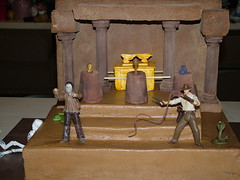 Indiana Jones Cake (ToodlesJupiter) Tags: skeleton temple holygrail idol pillars snakes indianajones arkofthecovenant raidersofthelostark crystalskull templeofdoom thelastcrusade kingdomofthecrystalskull