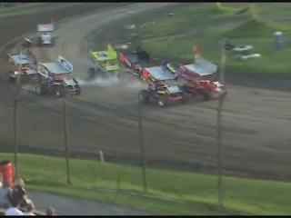 Brandan Warner 10B CRSA Sprint Car Flip
