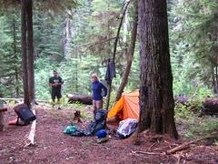 Camp along Long Canyon Creek, Selkirk Mountains, North Idaho.