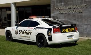 Stanislaus County Sheriff's Car Rear Three Quarter View