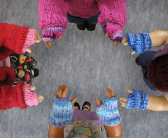 Knucks! (mimiville) Tags: doll handmade knit gloves samantha kirsten josefina kaya americangirl fingerless knucks