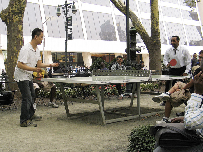 Ping Pong, Bryant Park