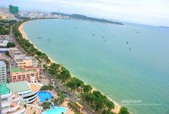 Pattaya angle (Pkamo@Tai) Tags: lighting trip travel sunset shadow beach colors girl relax thailand happy tour view place thai pattaya chonburi  puykamo