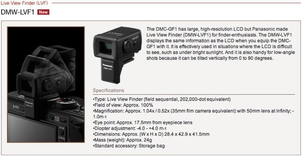 Panasonic External Live View Finder DMW-LVF1
