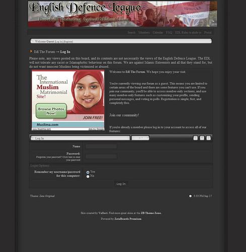 English Defence League advertises Muslim Matrimonial Service