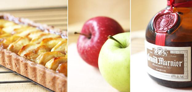 Tarte pommes caramel flambée au Grand Marnier