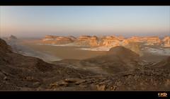 Sunrise (Monika Ostermann) Tags: blue white mountains sand desert egypt bluesky fiatlux whitedesert skulptures