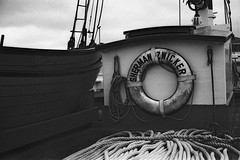 Sherman Zwicker 1 (mhartford) Tags: bw museum bath ship maine maritime yashica sherman aristaedu acufine zwicker mainemaritimemuseum
