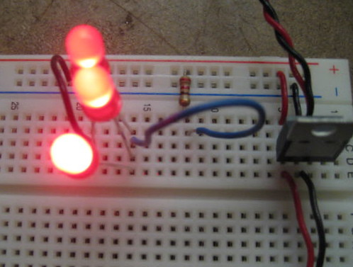 3 LEDs in parallel