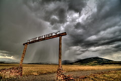 Eight Mile Ranch Rainstorm (TVGuy) Tags: ranch autumn sky mountains fall rain clouds canon colorado eight mile precipitation