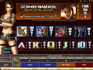 free Tomb Raider - Secrets of the Sword slot mini symbol
