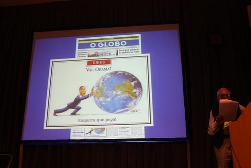 La caricatura es una parte de la historia de O Globo, y en esta portada tenía una de Barack Obama.