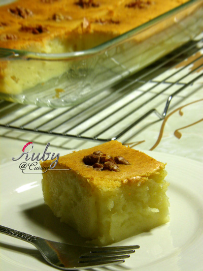 Baked sticky rice cake