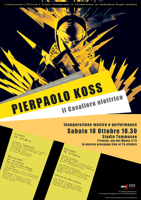 PIERPAOLO KOSS Il Cavaliere elettrico nel centenario del Futurismo by DDLIFE: www.ddmagazine.it
