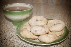 123/365 my breakfast (BlackberryLight) Tags: light food cup cookies breakfast yummy tea pastry project365365